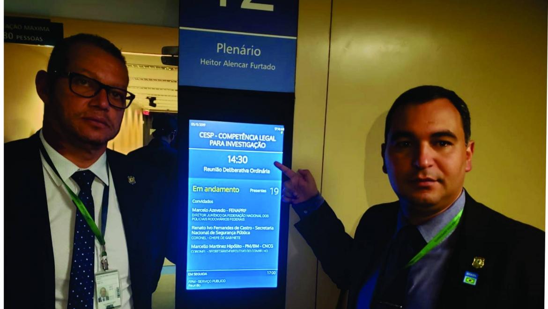SINPRFRJ e FENAPRF participam de Audiência Pública na Câmara para debater a competência de investigação para as polícias no Brasil
