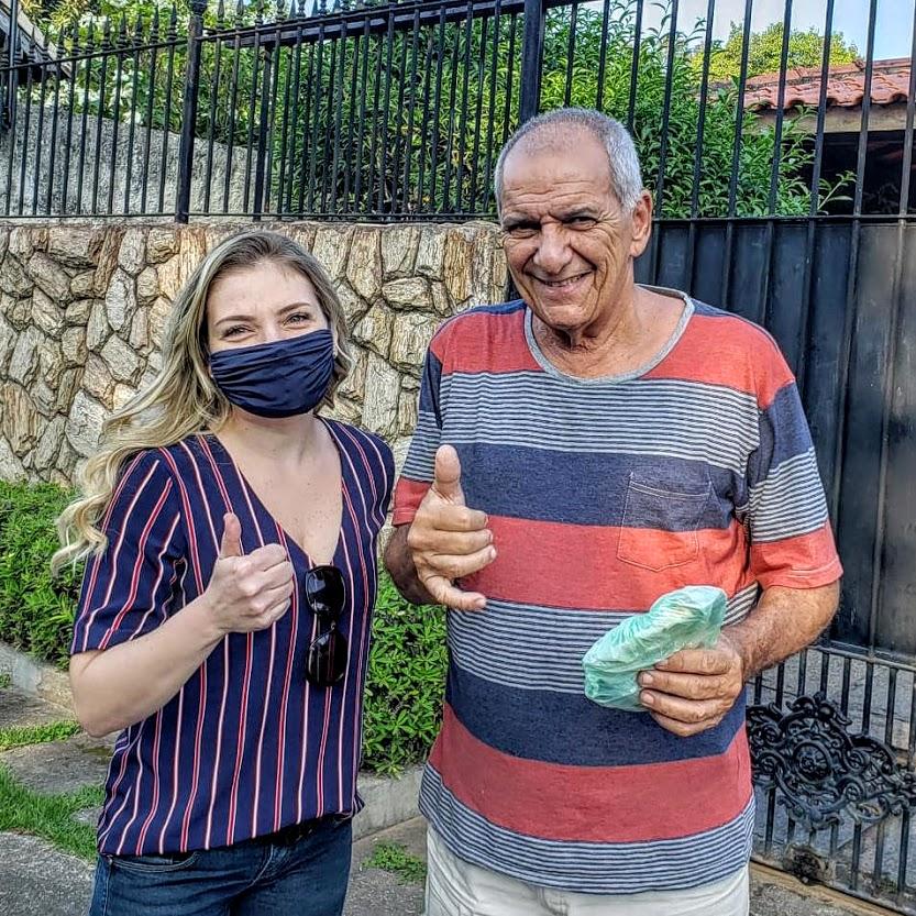 Veteranos começam a receber suas máscaras